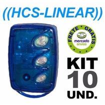Controle 3 Teclas Linear Hcs Módulo Guarita Kit 10 Unidades
