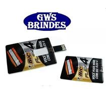 50 Un Pen Drive Cartão ( Pen Card ) 4gb, Personalizado
