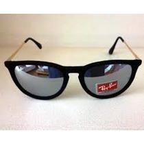 Óculos De Sol Ray- Rb 4171 Érika Velvet Veludo Preto Rayba