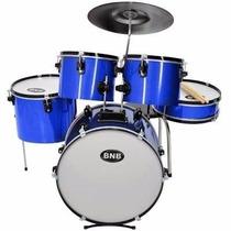 Bateria Musical Bnb Infantil Nova. Cor - Azul Completa !!!
