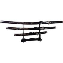 Kit 3 Espadas Samurai + Suporte Grátis, Excelente Qualidade!