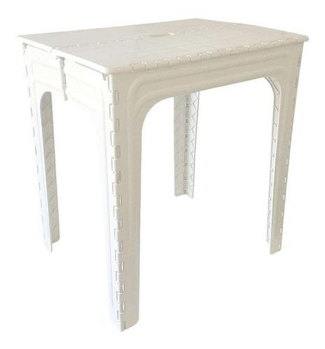 Mesa De Plástico Dobravél Adulto Branca