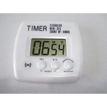 Timer Temporizador Digital Cronômetro Regressivo Branco 2