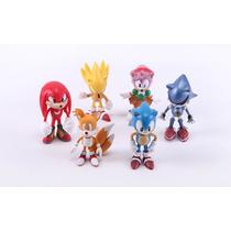 Pacote 6 Miniaturas Sonic The Hedgehog E Sua Turma