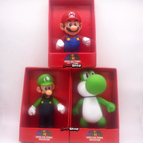 Kit Super Mario Grande 3 Bonecos Big Size 23cm Original