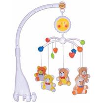 Móbile Musical Giratório Para Berço Urso 2002