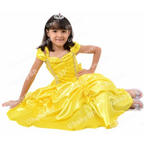Fantasia Vestido Festa Infantil Princesa - Bela