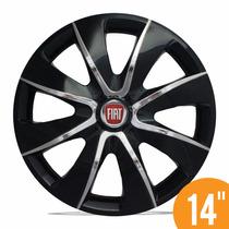 Carlota Esportiva 14 Prime Black Chrome Fiat Palio Siena V
