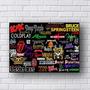 Placa Decorativa Bandas De Rock Em Mdf 3mm 30x20cm