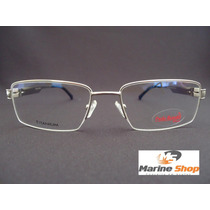 Armação Em Titânio / Titanium P/ Grau - Óculos Prata - Leve