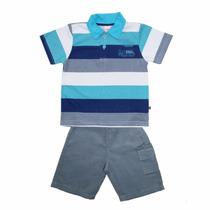 Conjunto Polo E Bermuda Infantil Menino Dil 215467 (045)
