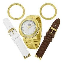 Relógio Dumont Vip Troca Pulseira Modelo Sk48041/r