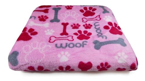 Manta Pet P/ Cachorro E Gato Microfibra - Panosul- Osso Rosa
