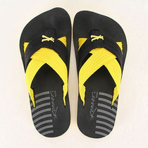 Chinelo Masculino Kenner Kivah Spider Duo - Pto/amarelo