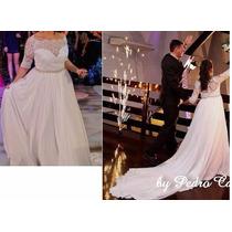 Vestido Noiva Rendado Com Aplicação Perola