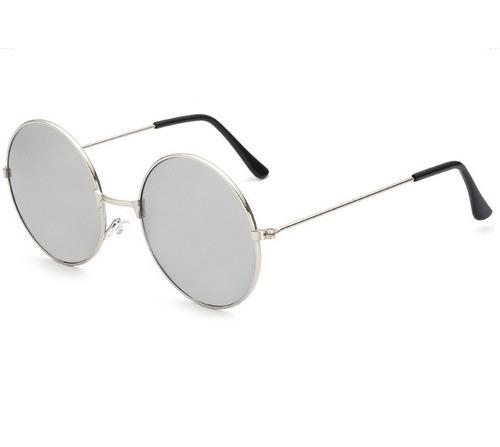 Óculos Sol Redondo Prata Ozzy John Lennon Masculino Feminino - R  35 ... ae982b4486