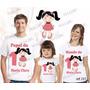 Lembrança De Aniversario Boneca De Pano Camiseta Kit Com 3
