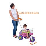 Triciclo Infantil Com Empurrador Meninas Bebê 1 Ano 3515