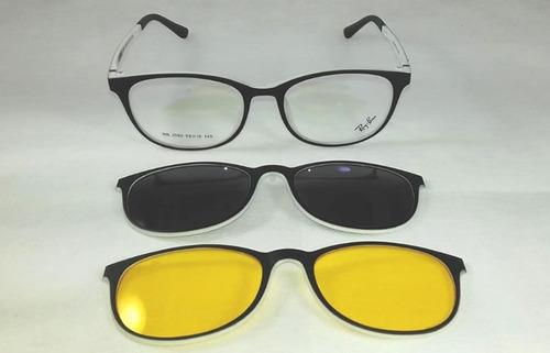 Oculos Clip On Polarizado Fibra De Carbono Proteção Uva Uvb d4d5f1fafa