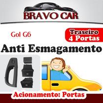 Kit Vidro Elétrico Gol G6 4 Portas Traseiro Anti Esmagamento