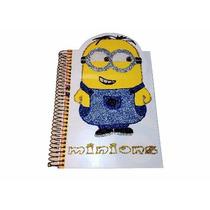 Cadernos Capa Dura 3d Do Minions - Personalizados