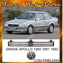 Grade Dianteira Apolo 90 91 92 Com Emblema