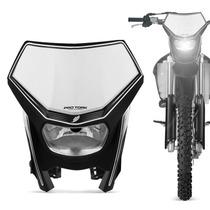 Carenagem Farol Moto Off Road Universal Pro Tork Preto