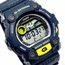 Relógio Casio G-shock G-7900 5 Alarmes Marés Fases Lua Az