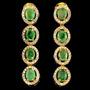Esmeralda Africana-zircônia-lindo Brinco De Prata 925 E Ouro