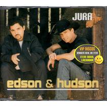 Edson E Hudson Cd Single Jura - Raro