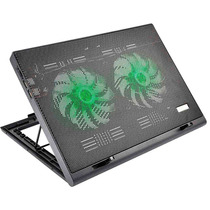 Base Cooler Gamer P/ Notebook Led Luminoso Verde Ac267