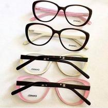 Óculos Armação Para Grau Chanel Gatinho