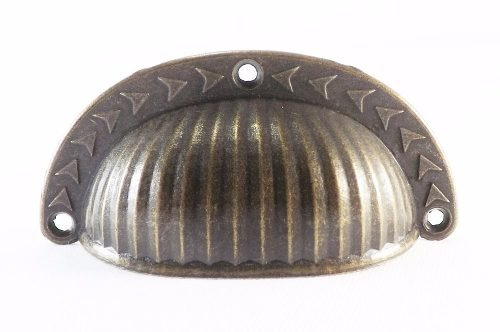 Puxador Colonial Bronze Cristaleira Gaveta Concha Trabalhada