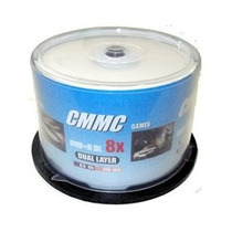 Mídia Virgem Cmmc Printable 50 Dvd-r Dl 8.5 8x - Umedisc