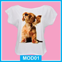 Blusa Feminina Infantil Pet, Dog, Cachorro, Fashion, Fofa