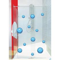 Adesivo Porta Box Vidro Banheiro Kit 25 Bolhas Fundo Mar
