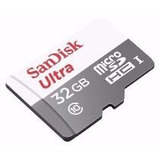 Cartao-Sandisk-Micro-Sd-Ultra-32gb�-Classe-10-Com-Adaptador