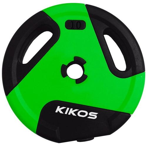 Anilha Kikos 10kg Ir91041 / 10s Style Cement Ps Preto / Verde