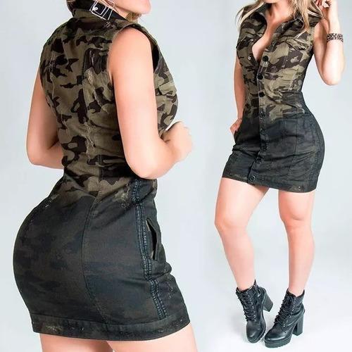 6d0b09ef0 Vestido Pit Bull Jeans Colete Camuflado Original 27524 à venda em ...