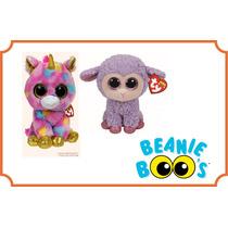 Beanie Boos Kit Com 2, Ovelha E Unicórnio Colecionável.