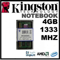 Memória Kingston Notebook Ddr3 4gb 1333mhz