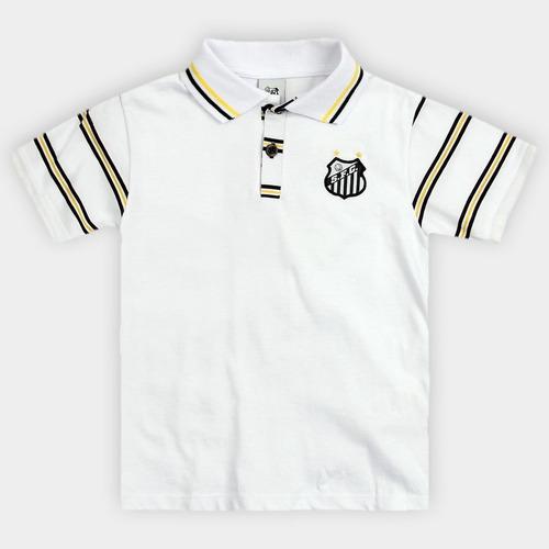 Camisa Polo Do Santos Infantil Oficial Menino 18fc37b0459ba