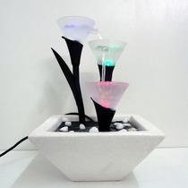Fonte De Agua Cascata Ceramica Decorativa De Vidro Linda