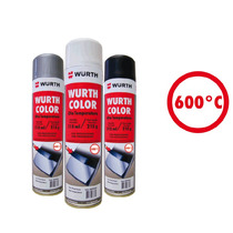 Wurth Tinta Spray Alta Temperatura Preto Fosco 315ml / 215g