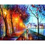 Quadro Abstrato Decorativo Casal Chuva Umbrella (tam Grande)