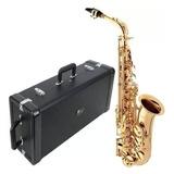 Sax Alto Eagle Sa501 Saxofone Em Mib Laqueado Com Case