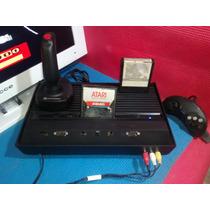 Atari 2600+2 Controles Com Led+saida Av+2 Jogos