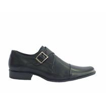 Sapato Social Bico Fino Envernizado De Fivela Dml Modas