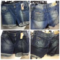 Bermuda Jeans Elastano Plus Size Tamanho 52