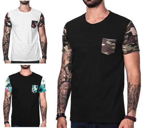 2f6754aeffc57 50 Pçs Camiseta Masculina Swag Camisa Floral Revenda Atac.
